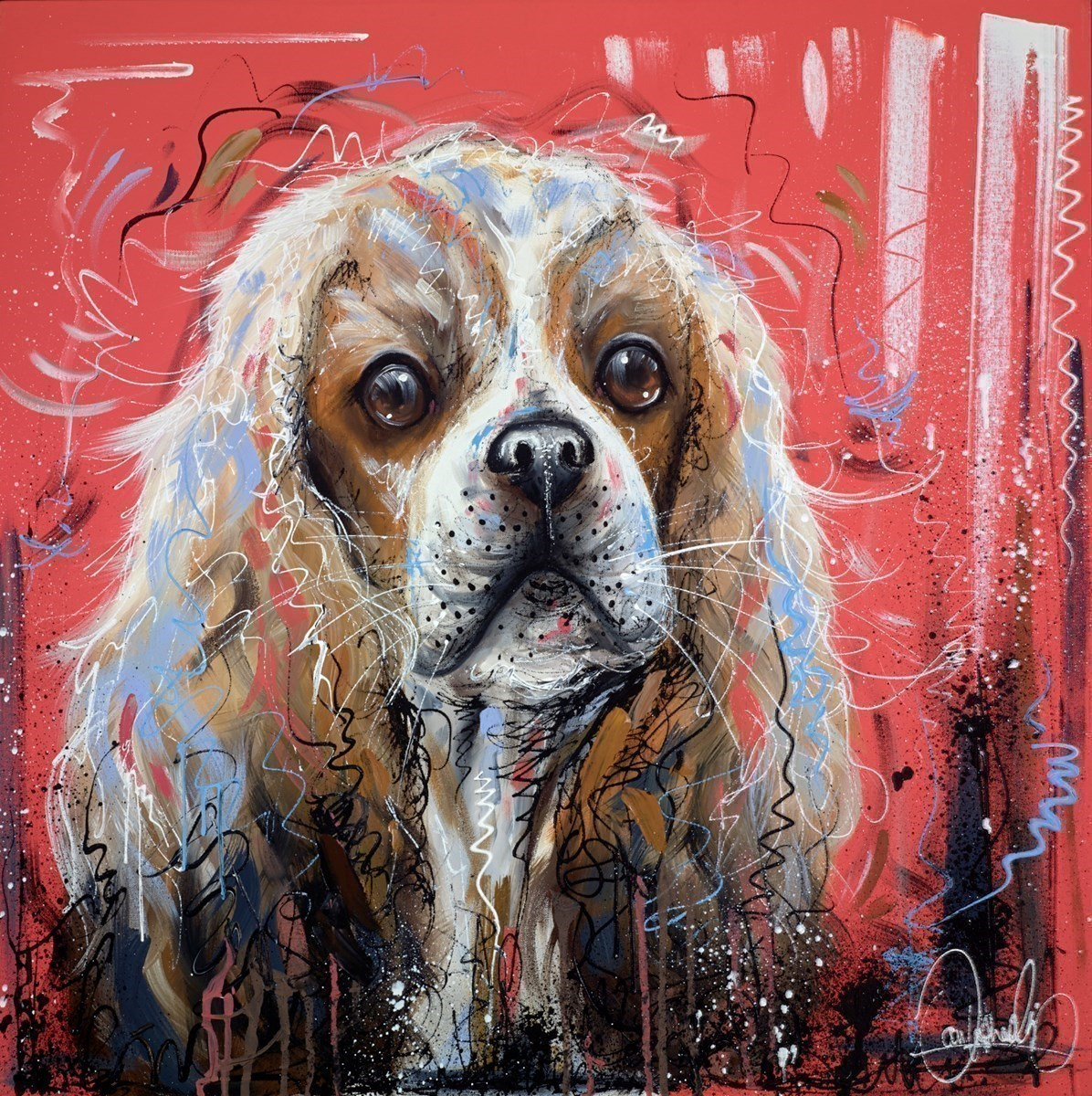 Little Paw Prints by Samantha Ellis -  sized 30x30 inches. Available from Whitewall Galleries